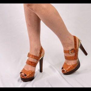 Michael Kors leather high heel sandals